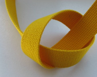 Gold Cotton Webbing For Key Fobs Tote Handles Strapping Belting