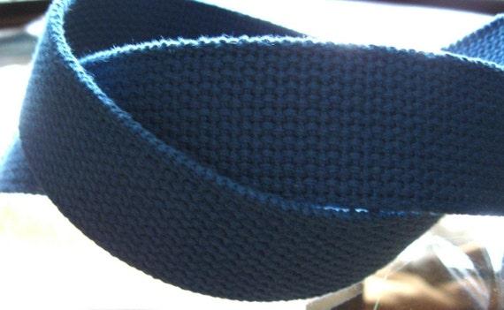 Royal Blue Cotton Webbing For Handbags Totes Key Fob Wristlets Belting Strap