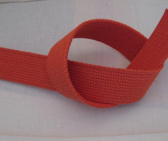 "Cotton Webbing 1 1/4"" Orange For Key Fobs Handbags Belts"
