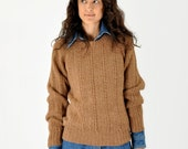 Brown Cable Knit Sweater