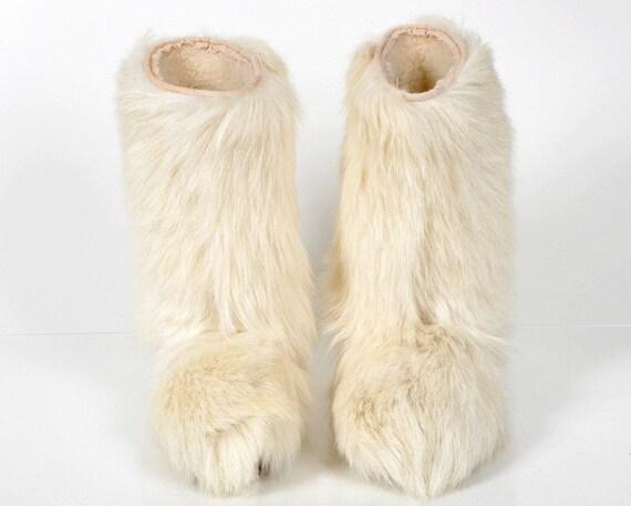 Vintage Apres Goat Hair Fur Boots Us 7 5 Europe 38 Uk 5