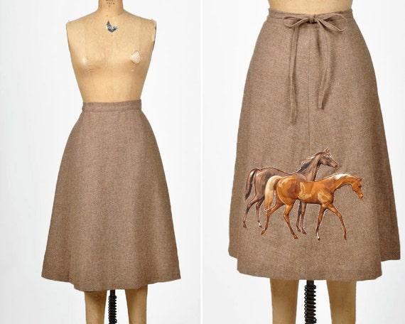 vintage EQUESTRIAN wrap skirt