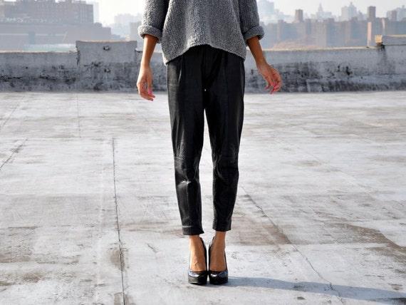 Black Moto Leather Pants