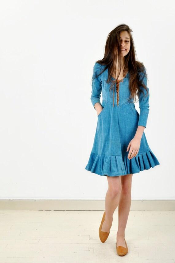 Vintage Corset Denim Dress