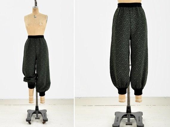 Graphic Knit Harem Pants