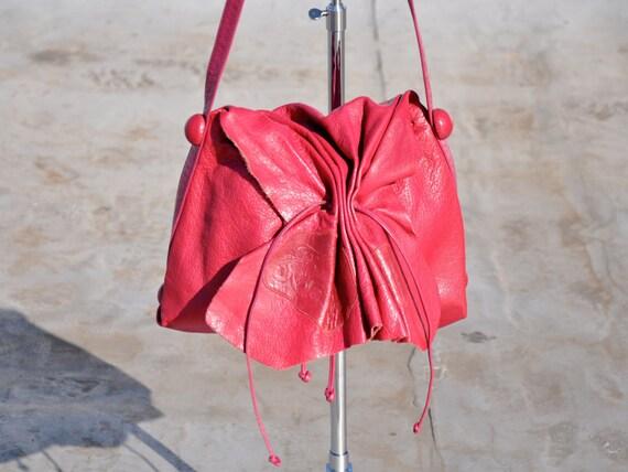 Vintage Pink Carlos Falchi Leather Purse