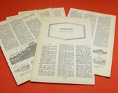 21 Pages of Vintage Geography from 1965