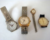 4 Vintage Wrist Watches that you can't tell time with