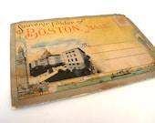 1910's Souvenir foldout illustrative folder of Boston Massachusetts