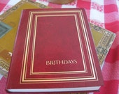 Vintage Red Birthday Book - Diary