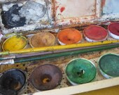 Vintage Reeves Tin Watercolor Set - Made in England