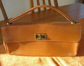 RESERVED Vintage Camel Colored Leather purse