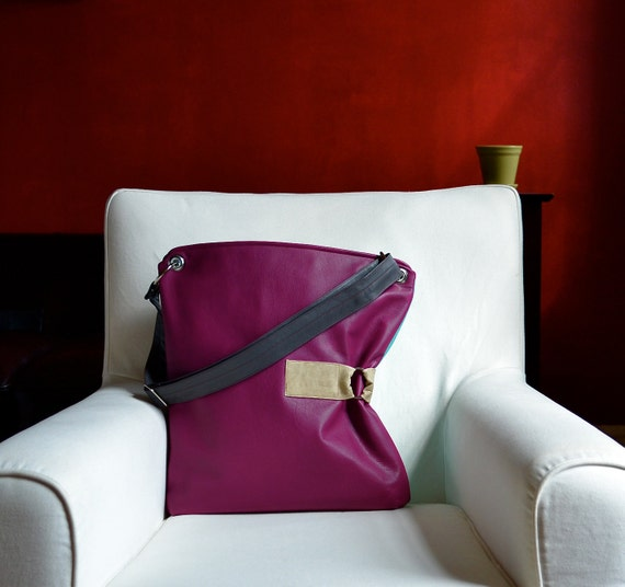The Luella Bag in Raspberry - MADE TO ORDER