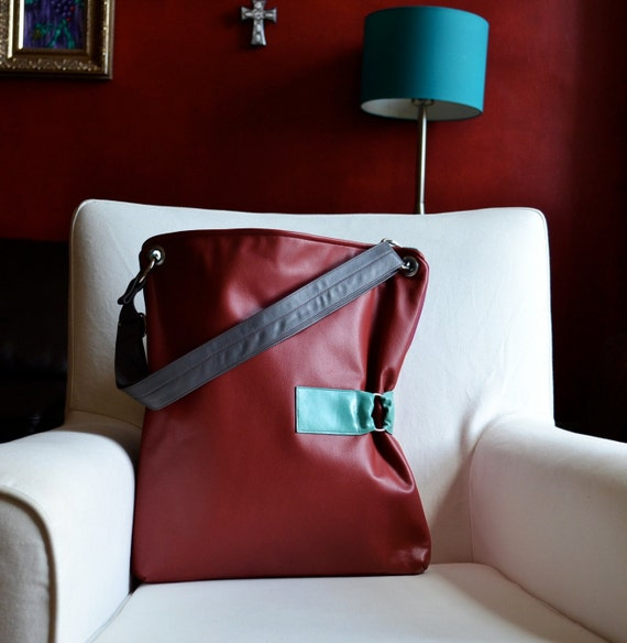 The Luella Bag in Autumn Red