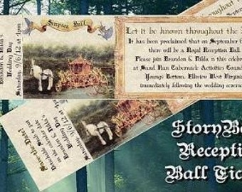 qty 50 Wedding Party Favors Reception Tickets Invitations Storybook