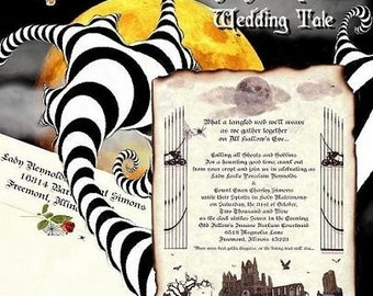 Halloween wedding invitation – Etsy