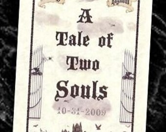 qty 50 Graveyard Wedding Tale Gothic favors Halloween Programs