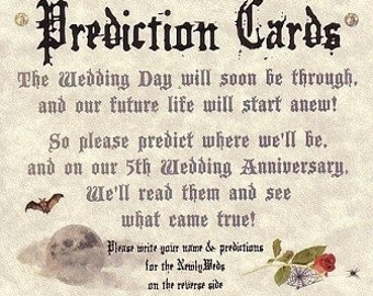 Wedding Favors Halloween Gothic Graveyard Prediction Cards QTY 150