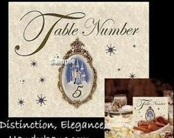 Cinderella Wedding favors gown Place Table Number Cards Qty 20