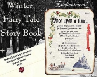 qty 75 Winter Cinderella Royal Fairy Tale Wedding party Invitation & Response RSVP Cards