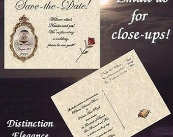 qty 75 Cinderella Princess Wedding Favors Save The Date Post Cards