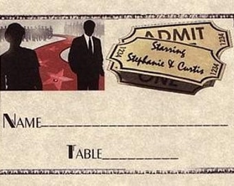 Hollywood Movie Wedding Favor Place Cards qty 100