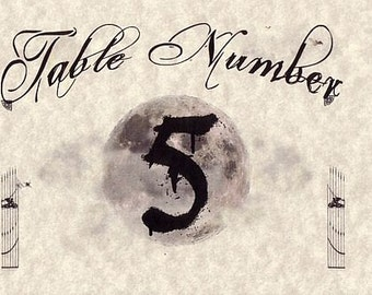qty 20 Halloween Graveyard Goth Theme Wedding Favors Table Number Cards