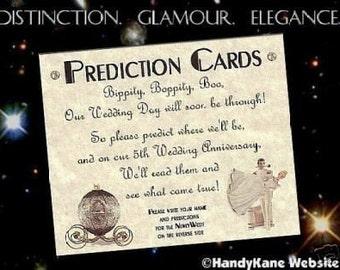 qty 100 cinderella Wedding party favors wish Prediction Cards Wedding Favors