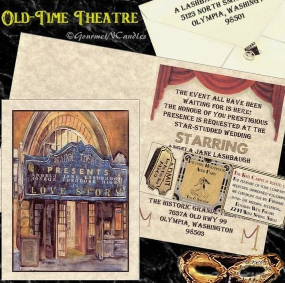 Items Similar To Qty 25 Theatre Movie Old Hollywood