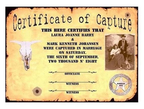 Western Wanted Photo Western Cowboy Scroll Favors Keepsake