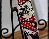 MISS MOUSE peyote bracelet cuff beading pattern PDF personal use download