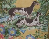 2 Greyhound Dog Panels Linen Decorator fabric - Retails for 218 dollars per yard~Order for JENNY