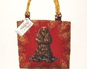Cocker Spaniel Handbag Tote Dog Show Bag SKSBoutiqueCo Monogram Artisan Show Retail 185.00