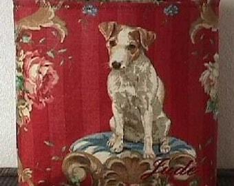 HandBag Jack Russell Parson Terrier Purse Jrt Tote Chic Exquisite Dog Boutique Bag Linen Custom Monogram
