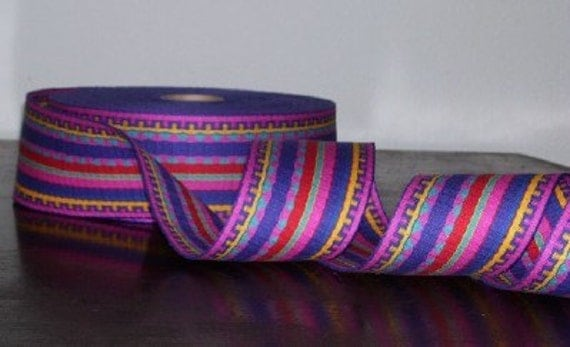 Western Native American Indian Aztec Tribal Woven Webbing Trim Turquoise Red Blue Pink Purple Yellow Gold Colorful for Belts Handbags 5 yds