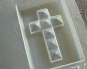 Resin Mold Crosses 62 mm with Square Facets for Jewelry Pendants 2 Count