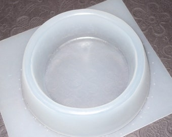 "Resin Mold Round Candle Holder 5.5"" Base or Candy Dish"