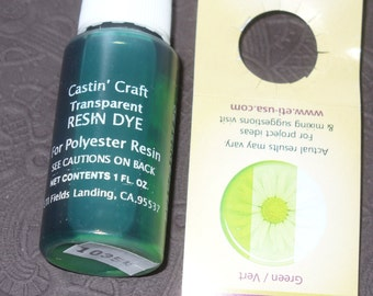 Green Transparent 29ml Dye Colorant Resin Epoxy Tint Castin' Craft