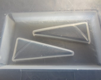 Resin Mold Triangle Earrings 20x53mm 2 Count 1 Pair