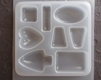 Resin Mold Assorted Jewels 8 Shapes for Jewelry Making