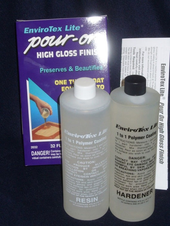Resin EnviroTex Lite Pour-On Gloss Finish 32 oz Equals 50 Coats Varnish