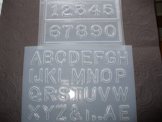 """Resin Mold Alphabet Letters and Numbers 1"""" 25mm Fondant Chocolate"""