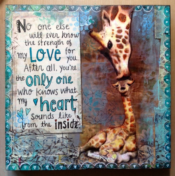 Fine Art Reproduction From My Original Art- For Beloved Baby- No One Will Ever Know the Strength of My Love For You- by ValsArtStudio