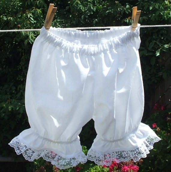 CUSTOM Baby Infant Toddler Bloomers Cotton Lace Ruffle