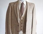 Size 40 Vintage Wool Three Piece Suit