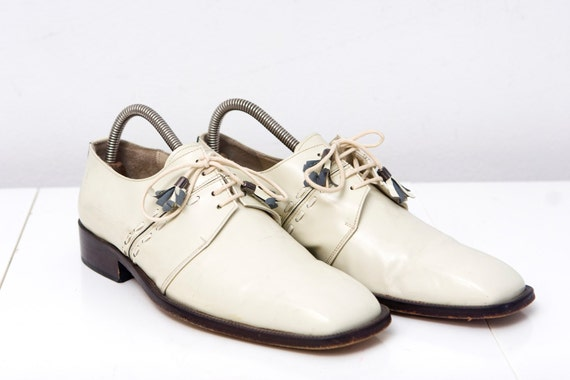 Vintage White Italian Leather Dress Shoes