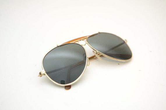 Vintage Tortoise Shell Aviator Sunglasses