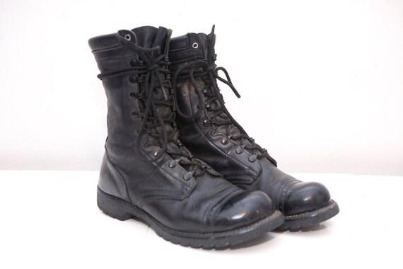 Size 10 Vintage Leather Combat Boots