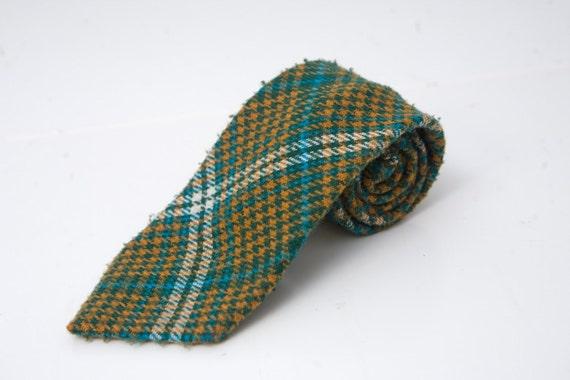 Vintage Plaid Wool Necktie