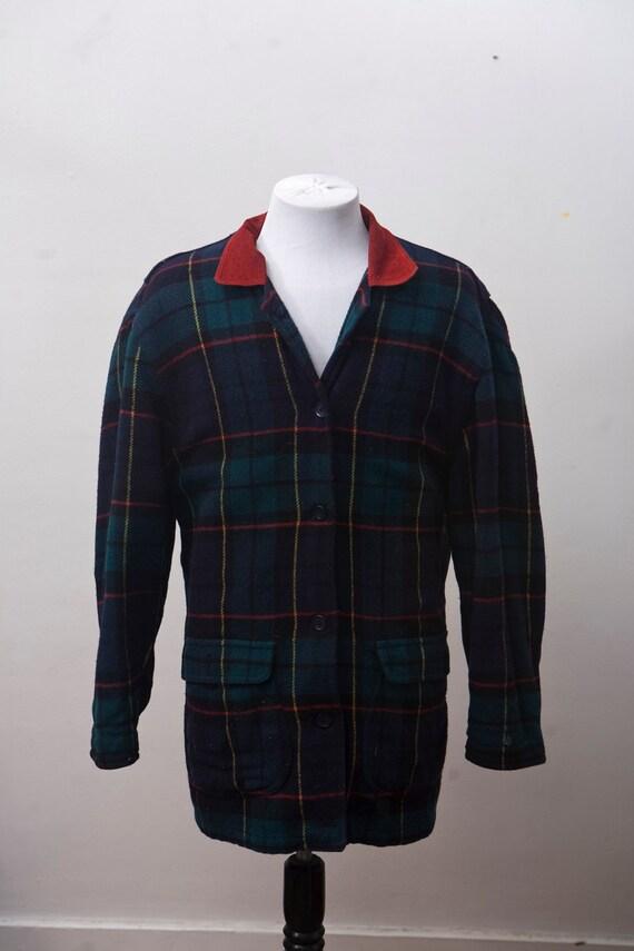 XL Plaid Barn Coat